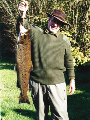 Jørgen Walter with a 6 kg sea trout
