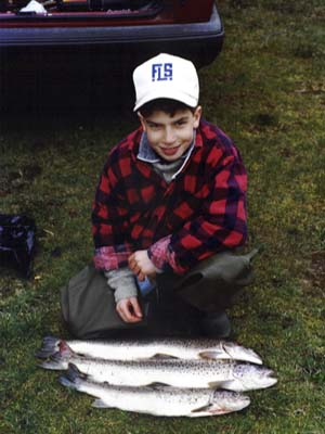 Here wins my son Flemming with three trout
