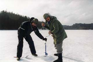 FLS Sports Fishing Association on ice fishing