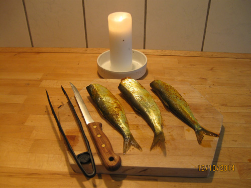 Yellow old-fashioned curry marinated herring