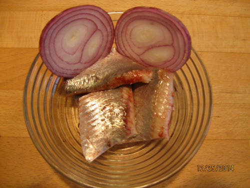 Spicy herring and carry herring for Christmas 2014